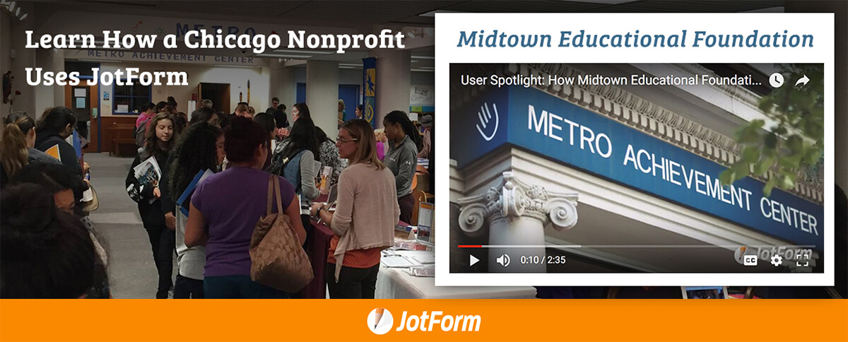 December Newsletter - How a Chicago Nonprofit Uses JotForm to Collect Donations and Register Event Guests