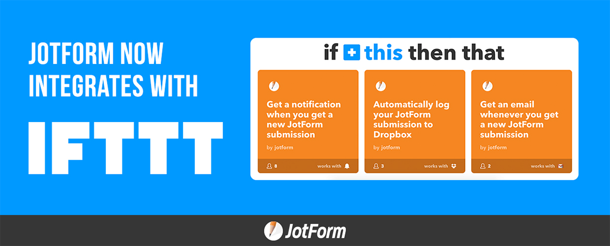 December Newsletter - JotForm Now Integrates with IFTTT