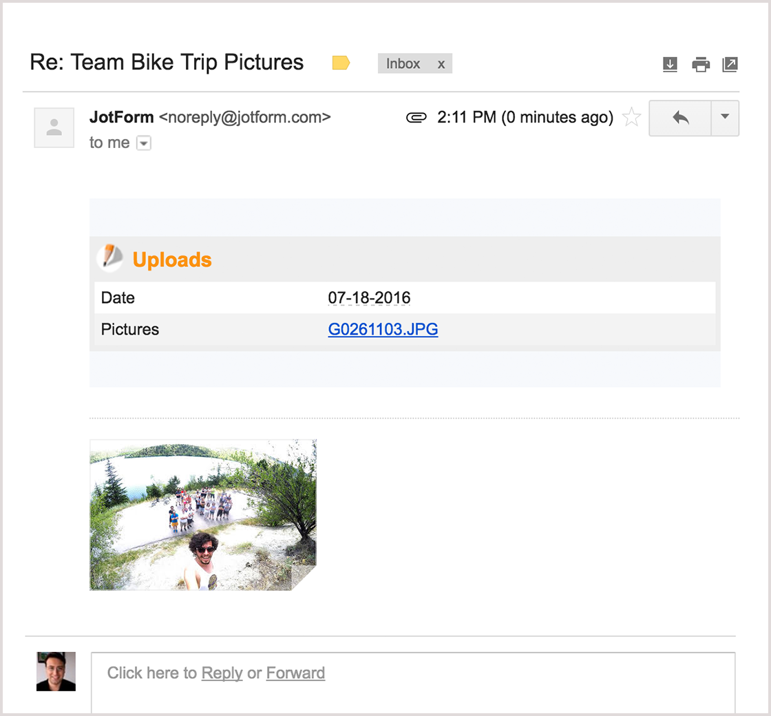 July Newsletter - New Feature: Get uploaded files as email attachments