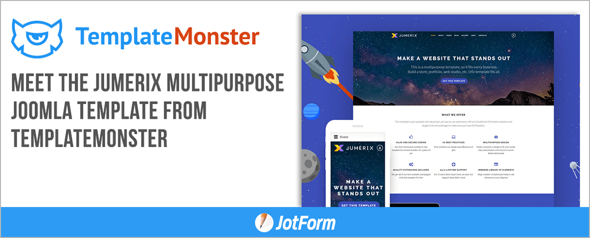 February Newsletter - Meet the Jumerix Multipurpose Joomla Template from TemplateMonster