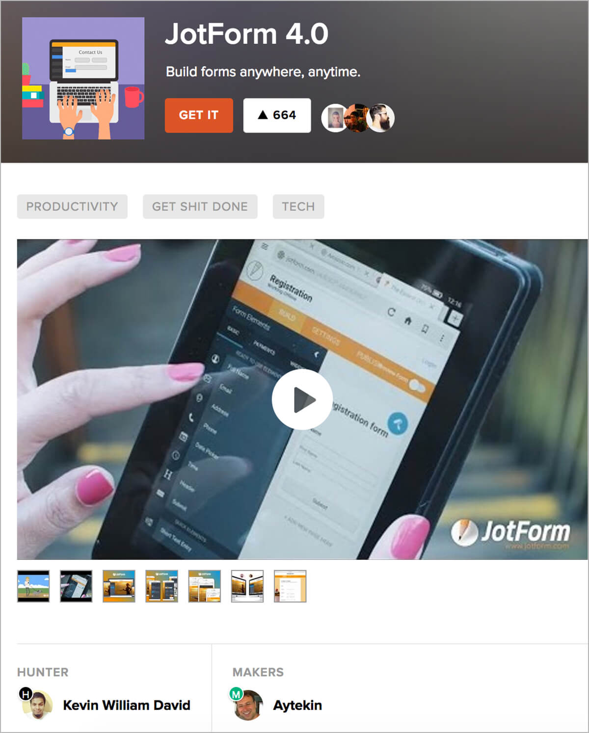 February Newsletter - JotForm 4.0 Launched at #2 on Product Hunt