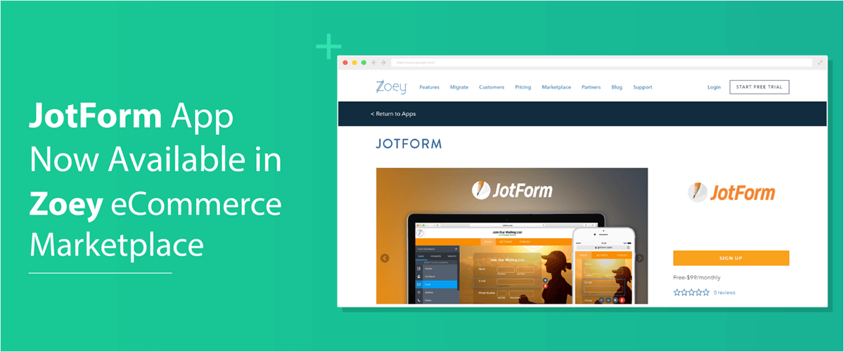 July Newsletter - JotForm App Now Available in Zoey eCommerce Marketplace