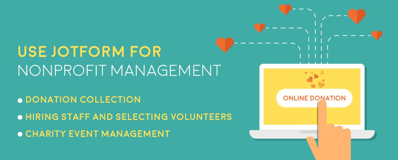 Use JotForm for Nonprofit Management