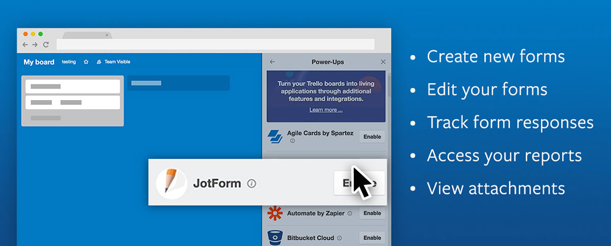 JotForm Now Available as a Trello Power-Up