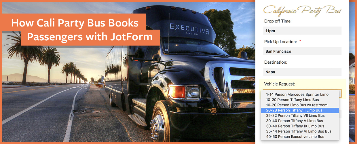 How Cali Party Bus Books Passengers with JotForm