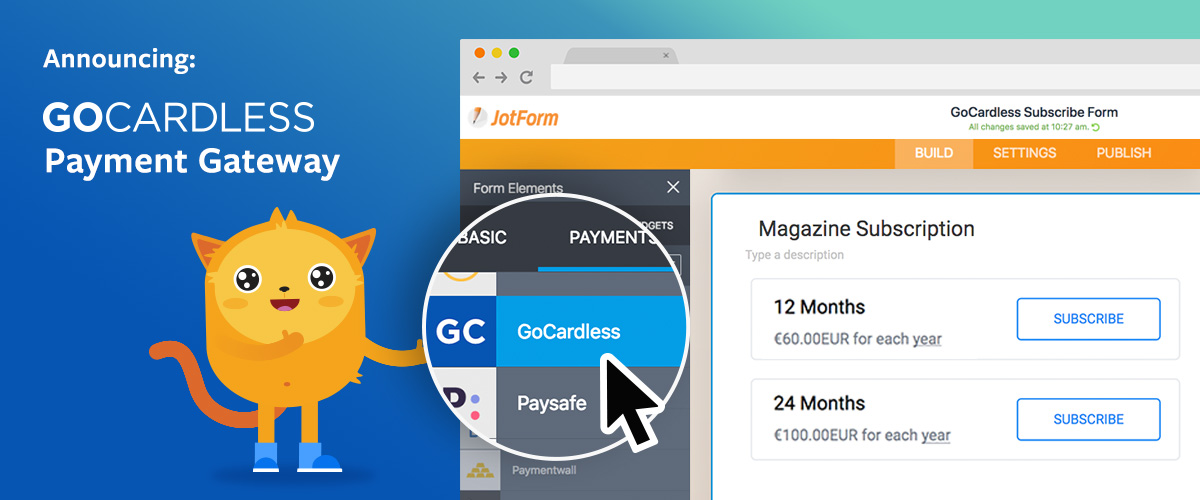 Collect Payments with JotForm and GoCardless