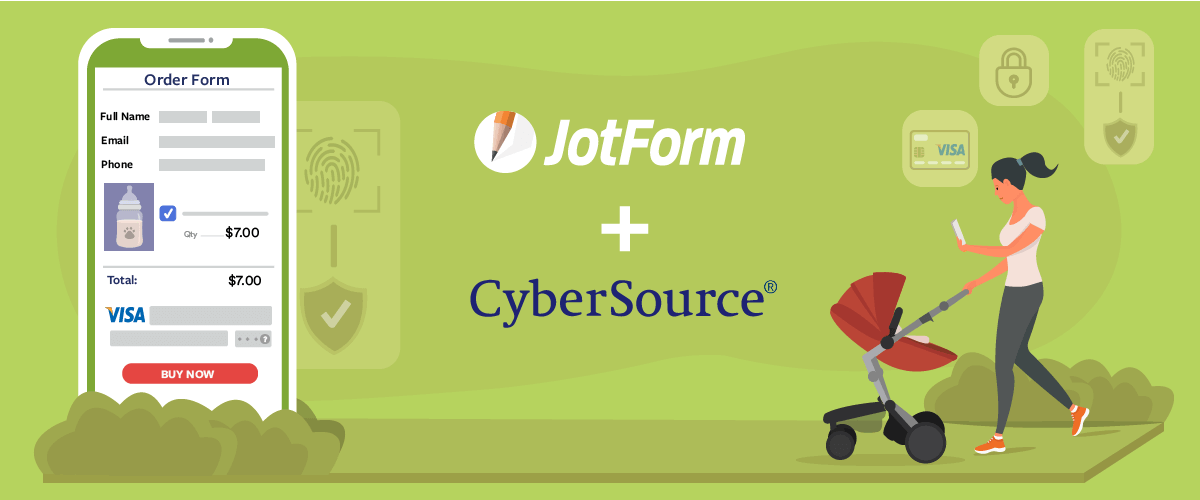 Introducing JotForm + CyberSource: A secure way to get paid