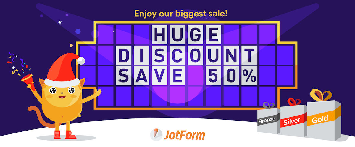 End of Year sale: Save 50% on all JotForm plans