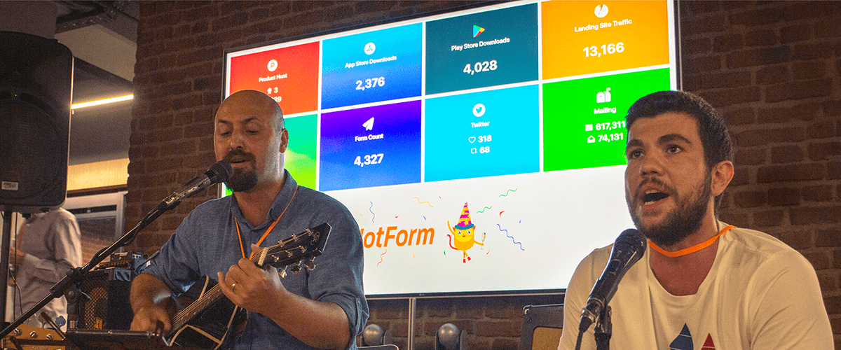 JotForm Mobile Forms was downloaded 10K times on the launch day
