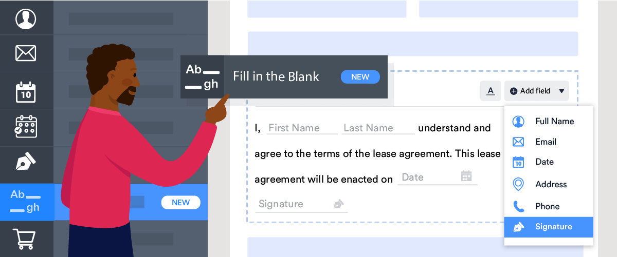 Collect the data you need with the new fill in the blank field