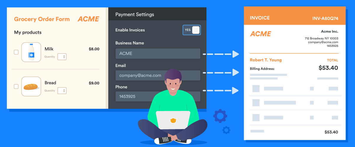 How to generate invoices with JotForm