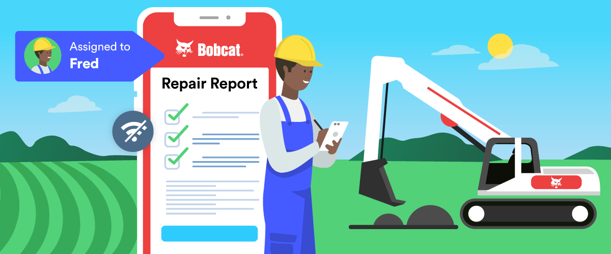 How Bobcat Company assigns forms for inspection reports