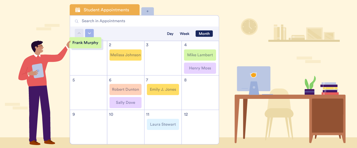 How a university professor uses JotForm Tables to manage student appointments