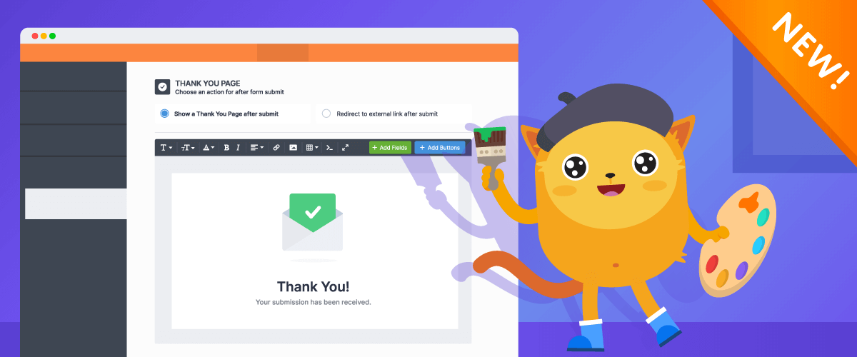 JotForm's new Thank You page