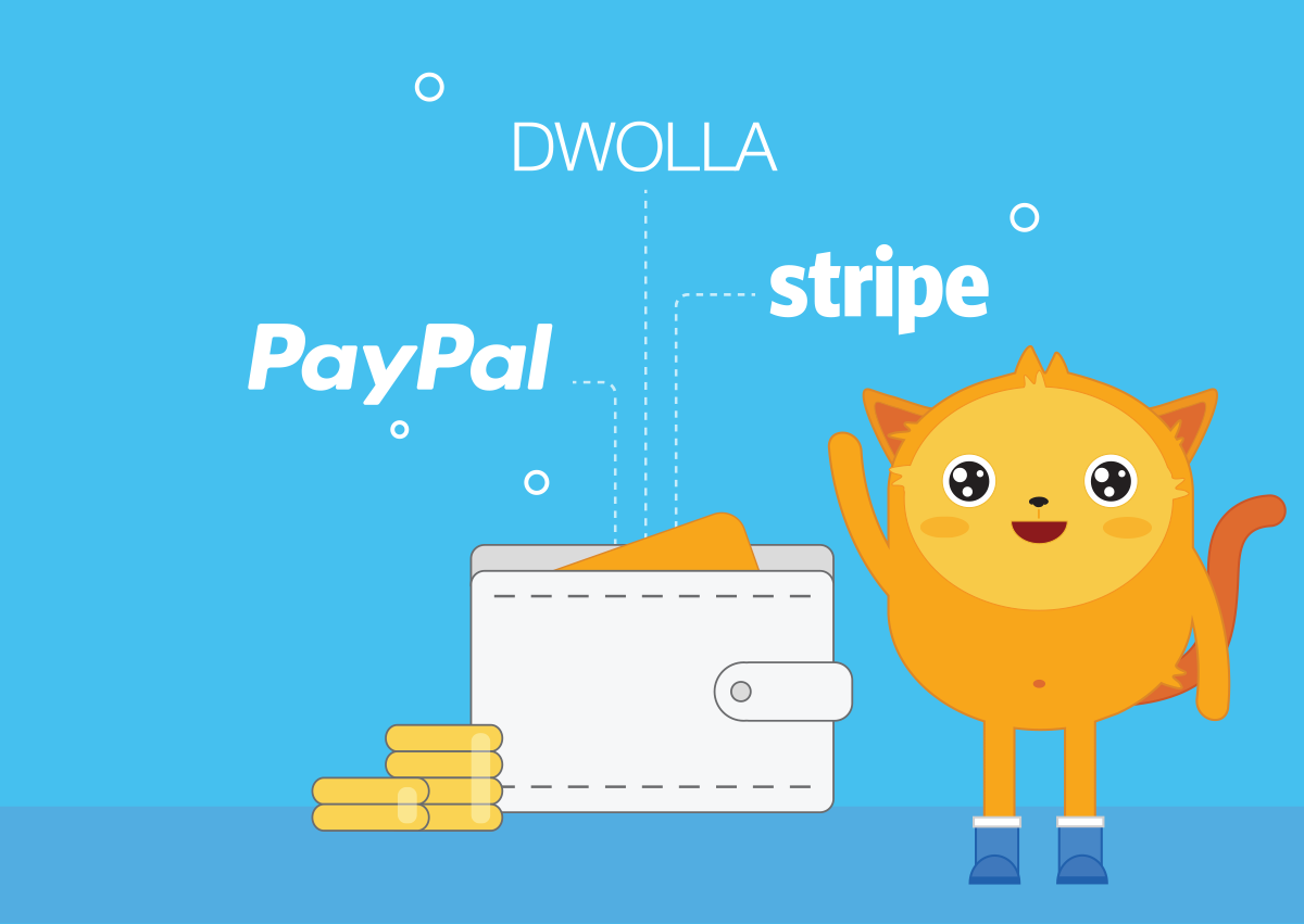 Populer Payment Tools (PayPal, Stripe, Dwolla)